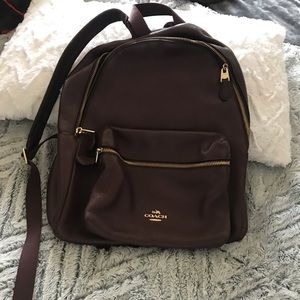 Coach leather back pack